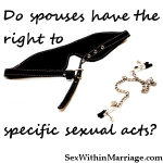 Do spouses have the right to specific sexual acts