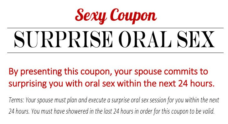 Oral Sex Coupon 102